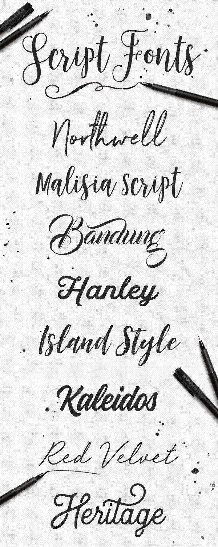 13 Letras cursivas elegantes