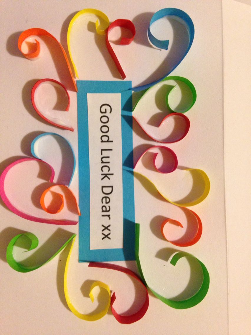 Quilled good luck card