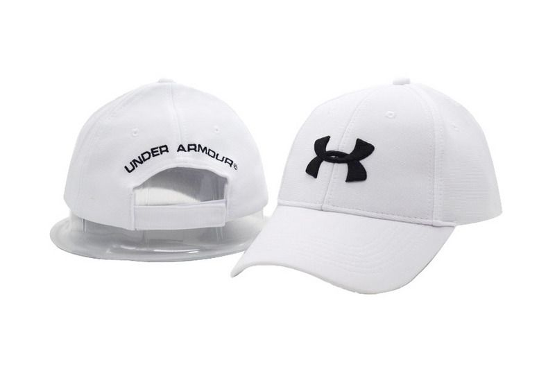 Men s   Women s Under Armour HeatGear Basic UA Logo Embroidery Adjustable  Baseball Hat - White   Black 702211dfed53