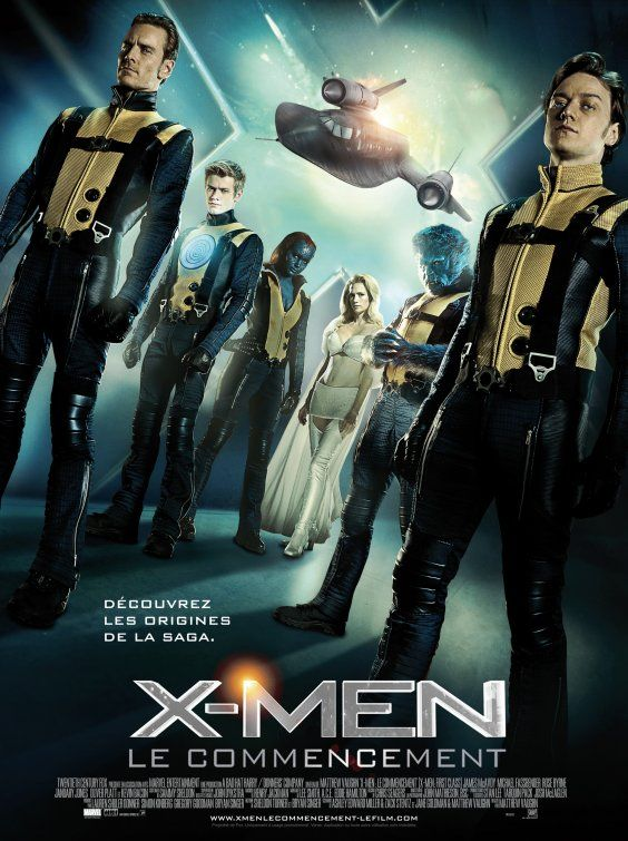 X Men First Class Movie Poster With James Mcavoy Michael Fassbender And Jennifer Lawrence Directed By Matthew Vau Man Movies Superhero Movies Marvel Movies