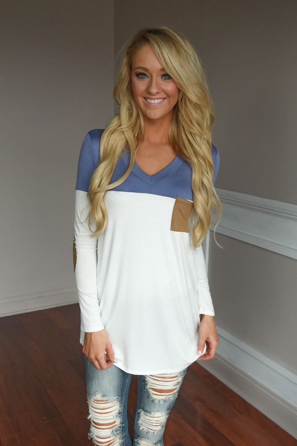 Got a Little Change in My Pocket Top ~ Blue – The Pulse Boutique