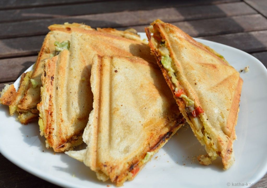 Avocado Goat Cheese Sandwich - Katha Cooks! -  Avocado and goat's cheese Sandwich_4  -