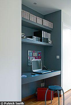 Bureau alcove grise | DECO bureaux | Chambre ado bureau ...