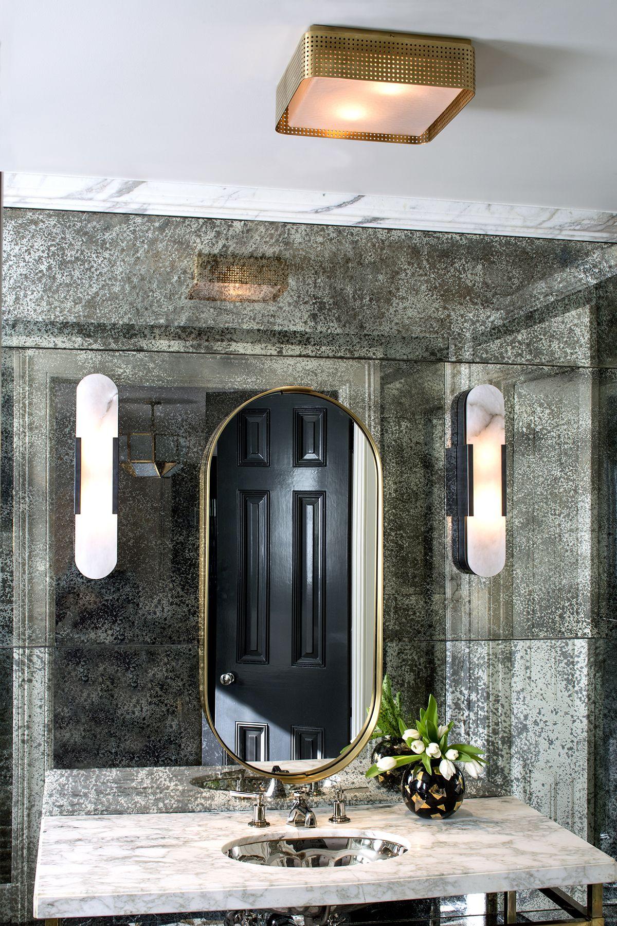 Precision Large Flush Mount Br Contemporary Bathroom