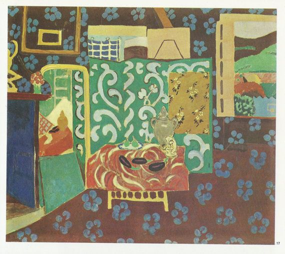 Fauvism Art Poster 1911 HENRI MATISSE Still Life Aubergines Expressionism
