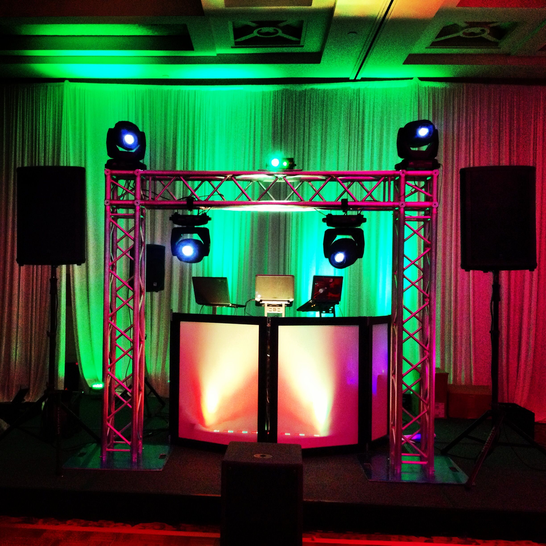 wedding dj truss setup great place to hang lights