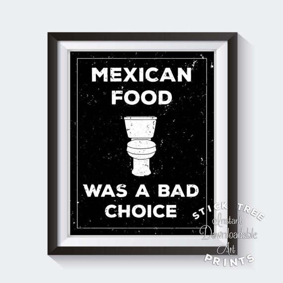 Funny Bathroom Print Art, Toilet Humor, Bathroom Wall Art, Funny