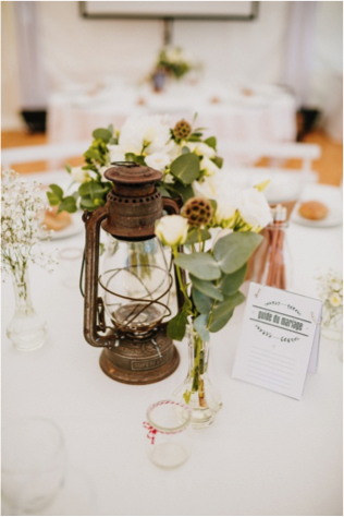 Centre De Table Lampe Tempete A Louer Decoration Table Mariage