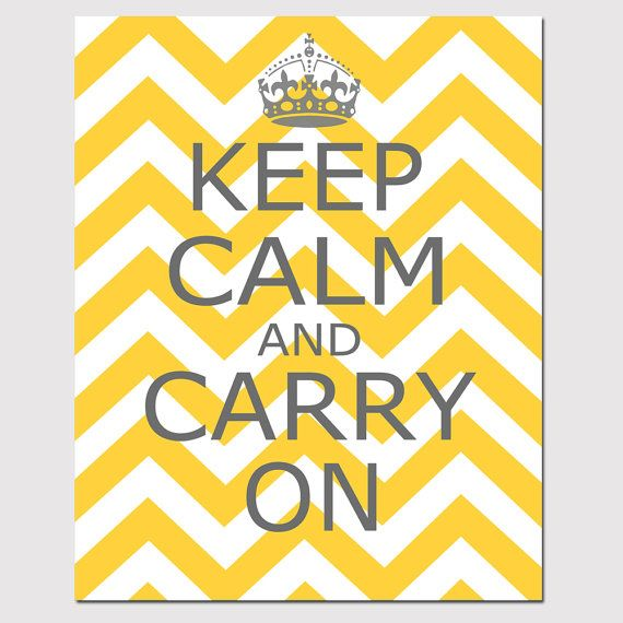 Keep Calm and Carry On - 8x10 Chevron Edition - Wall Art - Home ...