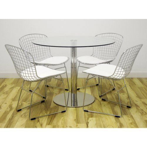 Anything Goes 5-Piece Dining Set with Bertoia Steel Wire Chairs ...