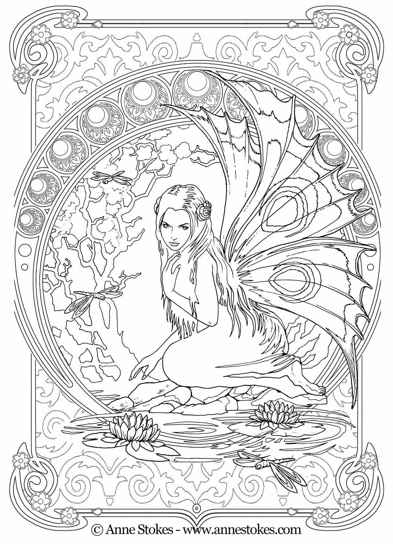 Pin By Coloring Pages For Adults On Coloring Pictures Fairy Coloring Pages Fairy Coloring Coloring Books