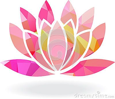 Abstract lotus flower abstract geometric lotus flower in multiple abstract lotus flower abstract geometric lotus flower in multiple colors stock vector mightylinksfo