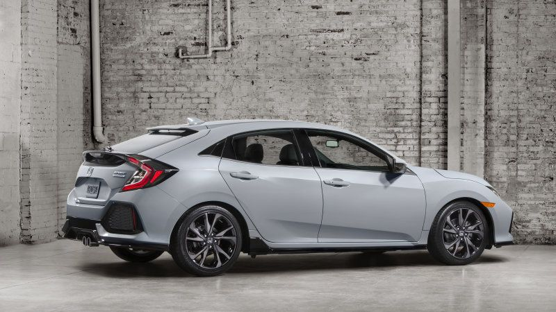 The 2017 Honda Civic Hatchback is here all turbo manual optional