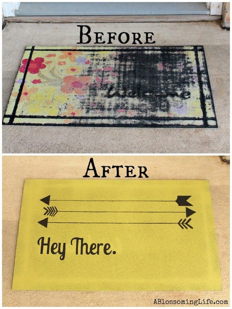 You can give new life to a ratty door mat with this easy