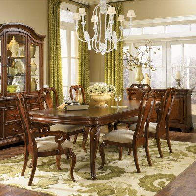 Legacy Evolution 7 Piece Dining Table Set With Queen Anne Chairs Beauteous Queen Anne Dining Room Set Design Inspiration