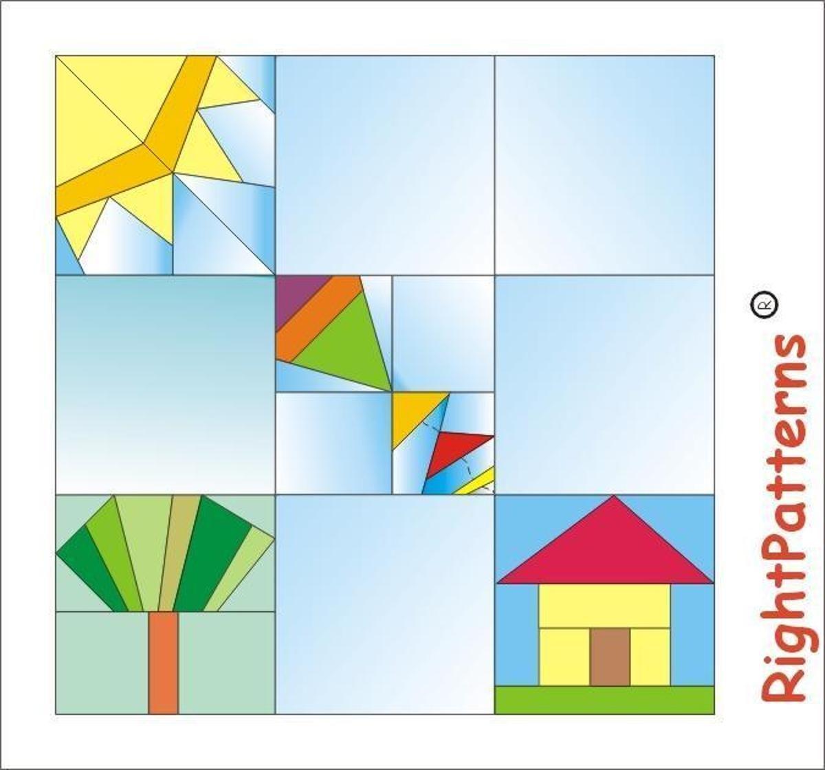 Spring Paper pieced quilt  blocks PDF | Craftsy