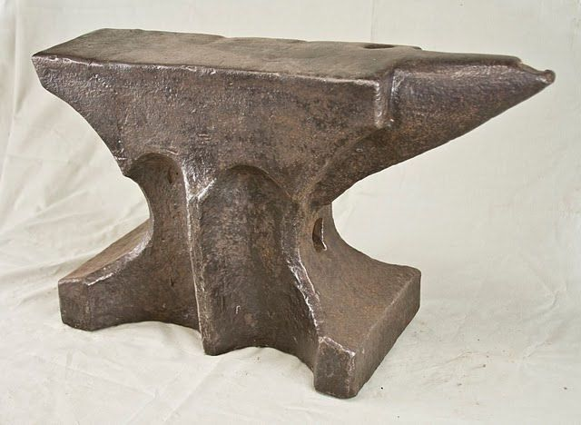 Anvil Museum Collection Anvil 19th Century European With Church
