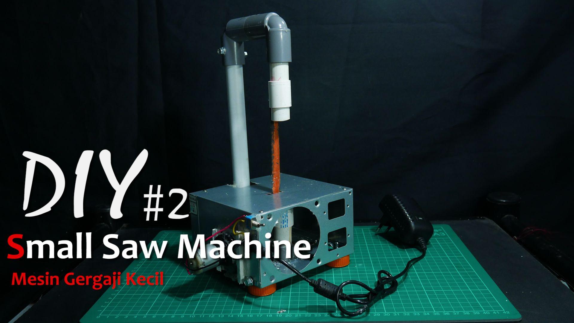 tutorial membuat gergaji mesin kecil menggunakan box power