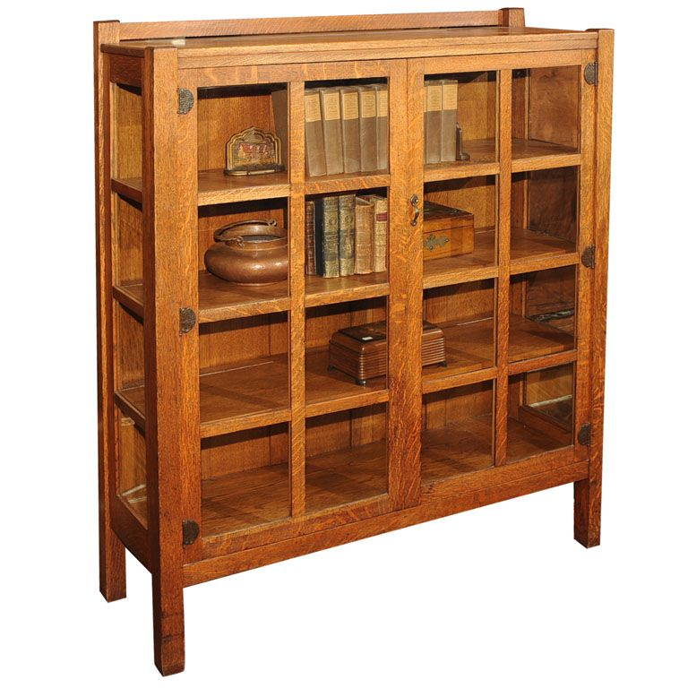 Arts And Crafts China Cabinet/Bookcase, Quaint/Stickley Bros