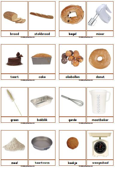 juf sanne lesidee fotowoordkaarten bakker recette and co cole pinterest vocabulario. Black Bedroom Furniture Sets. Home Design Ideas