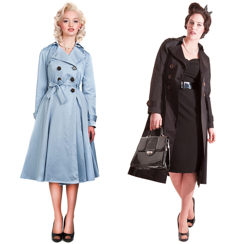 Details zu COLLECTIF Dietrich Trenchcoat Mantel Vintage 40er 50er ...