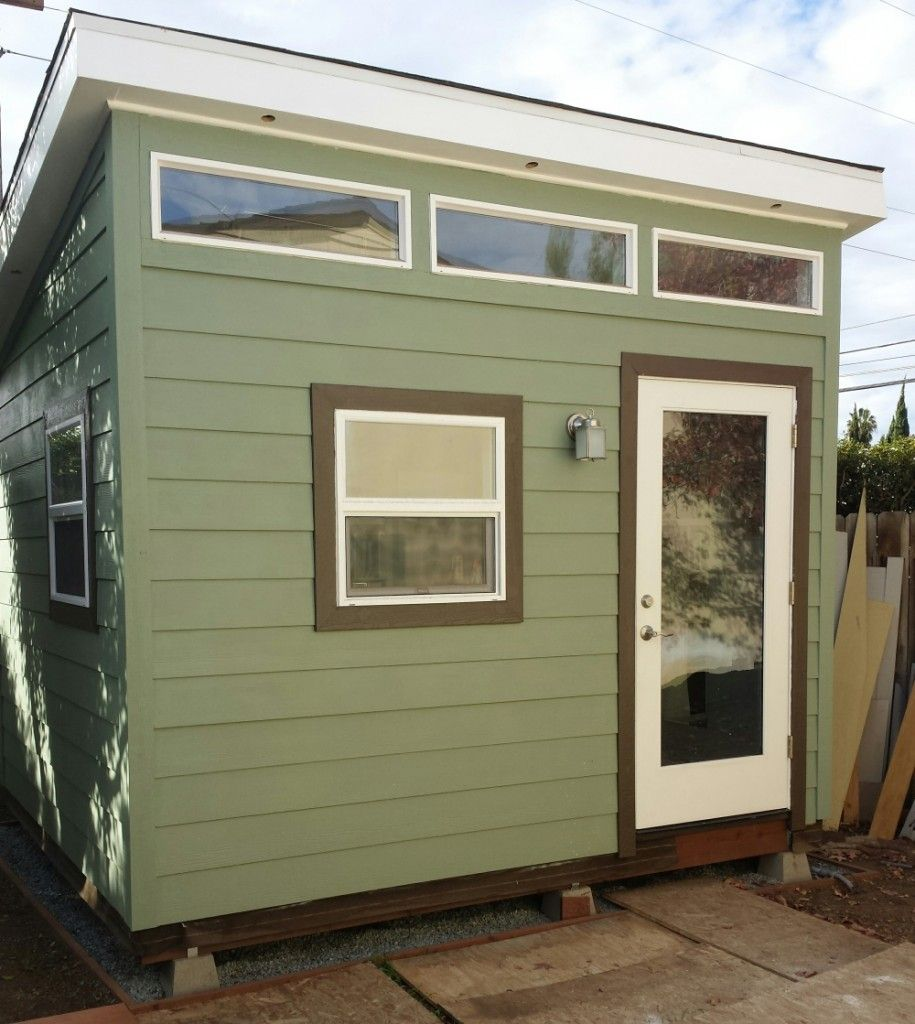 10x12 s1 studio shed front exterior small