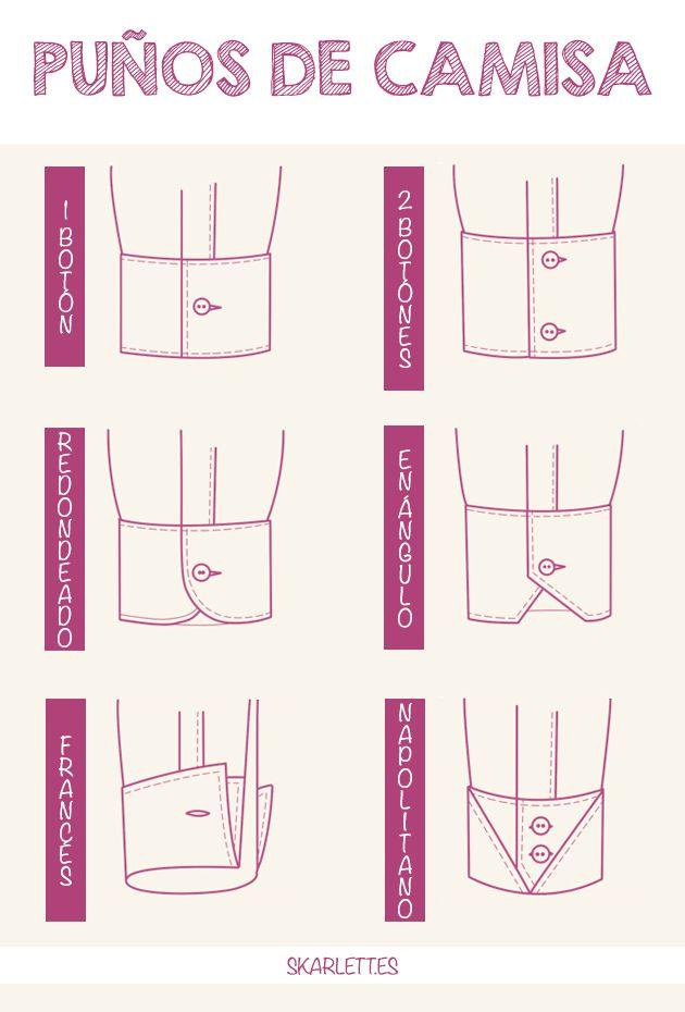 Clases de puños de camisa / Little Post | Patrones, ideas y ...