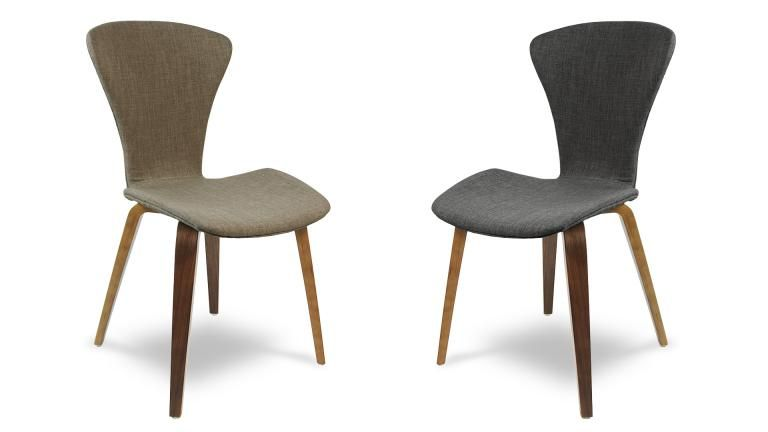 chaise tissu et pieds bois - karlstad | vintage et ps - Chaise Pied En Bois