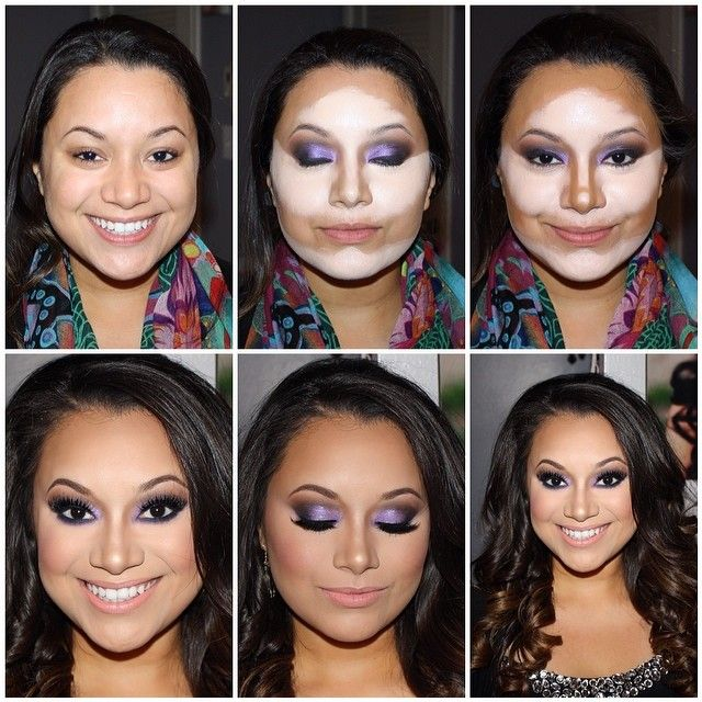 Contour makeup..I never do my full face, just nose and forehead ...