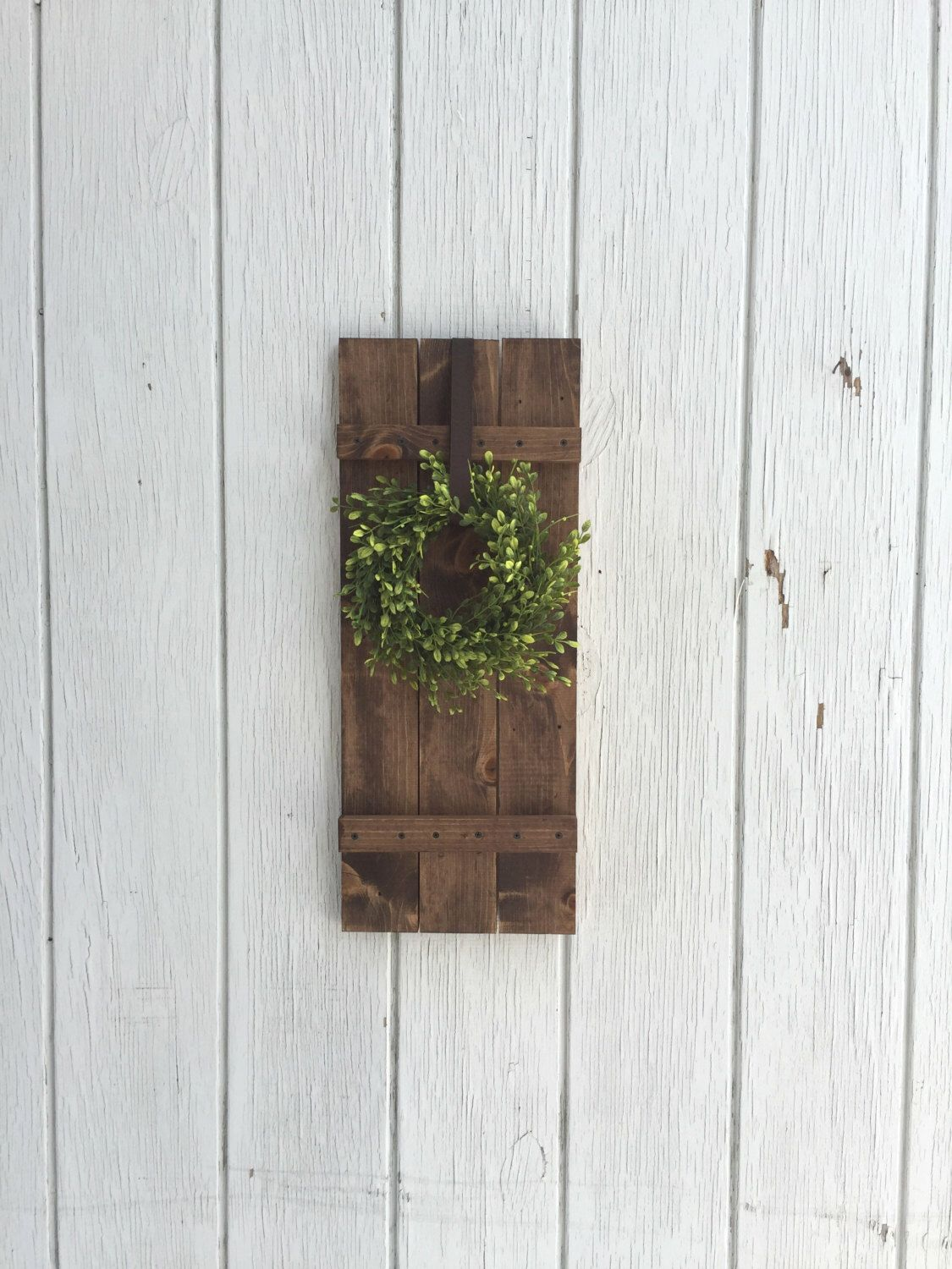 Farmhouse Shutter Wall Decor Rustic By KeywheatKreations On Etsy