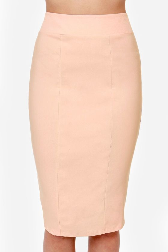 Midi Madness Peach Midi Skirt | Peach, Clothes and Wardrobes