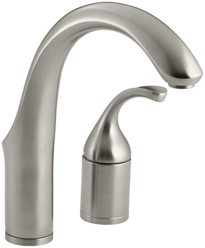 Kohler K 10443 Bn Brushed Nickel Forte Single Handle Bar Faucet With Metal Lever Handle Bar Sink Faucet Bar Faucets Single Handle Kitchen Faucet