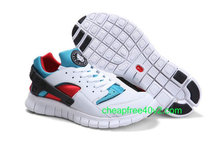 Lvu4100 Nike Huarache Free 2012 Men's Running Shoe White/Soar Blue ...