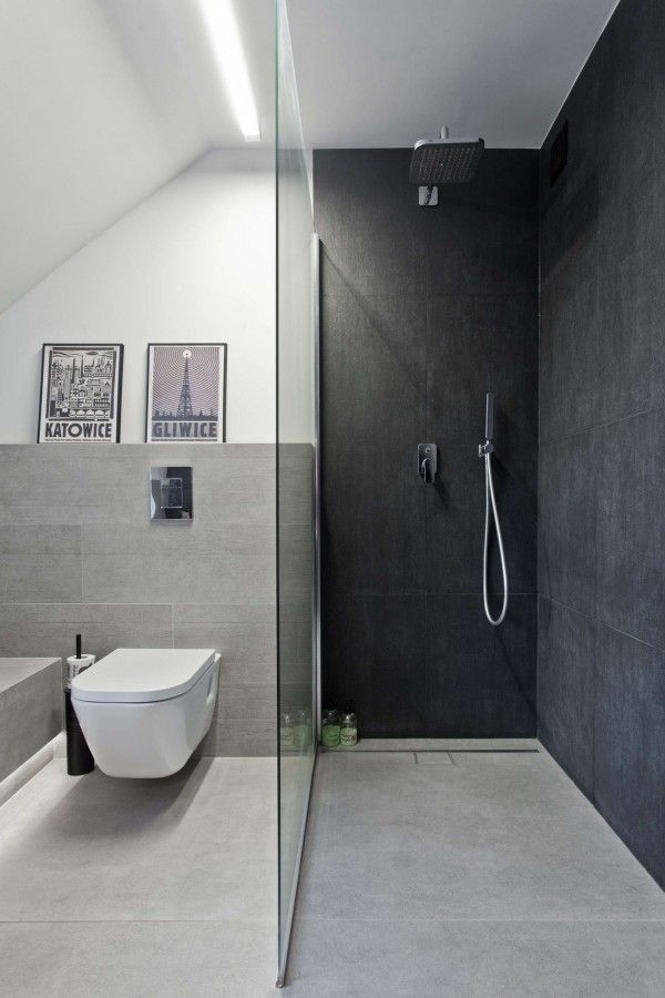 An old attic is transformed into a gorgeous apartment bathroom