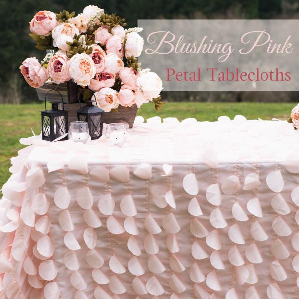 Blushing Pink Petal Tablecloths Linentablecloth Pink Petals