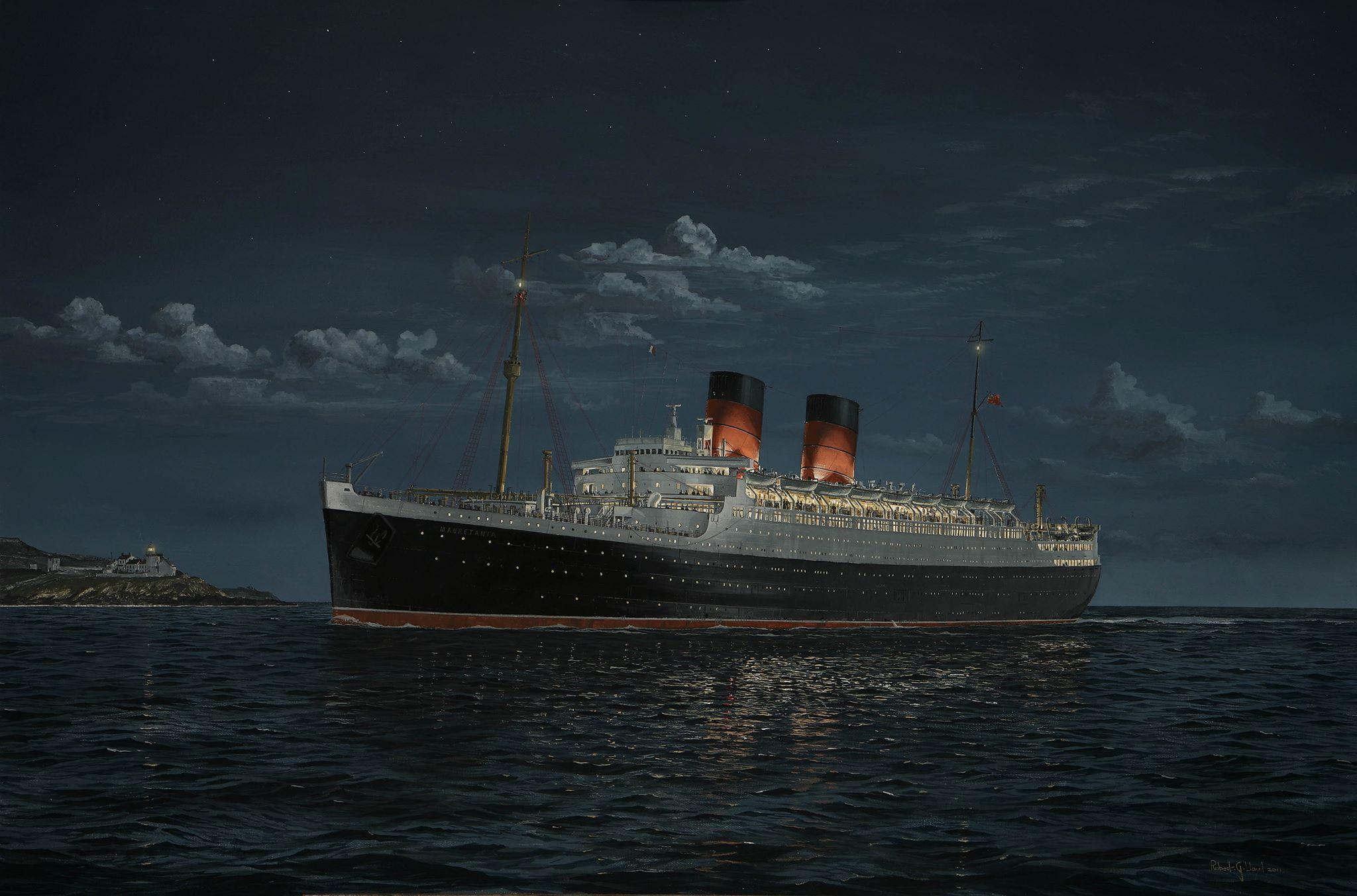 Mauretania, Cunard Line. Mauretania departed Liverpool on her maiden voyage on 16 November 1907.