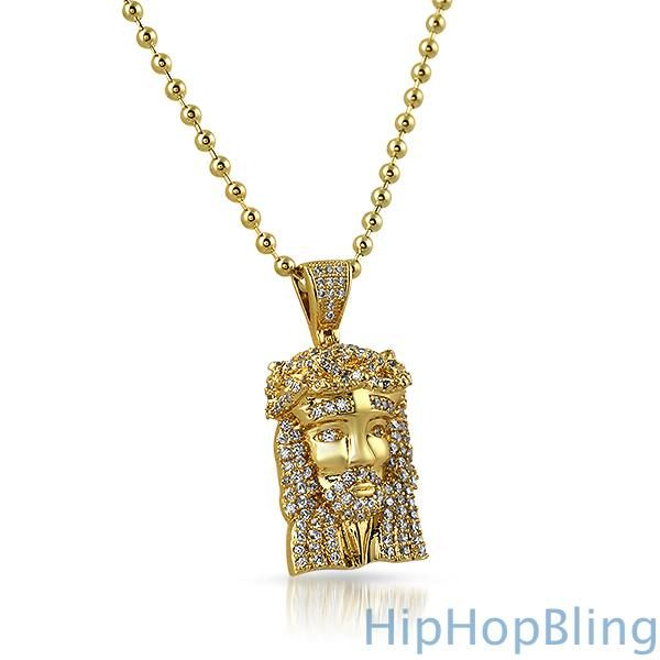 Micro jesus piece pendant gold jesus piece jesus face and pendants micro jesus piece pendant gold mozeypictures Image collections