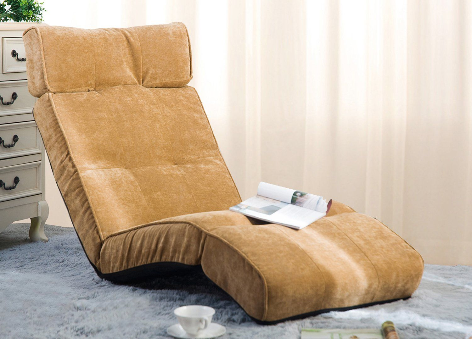 Merax Adjustable Folding Floor Couch Lounger Sofa Chair is ...