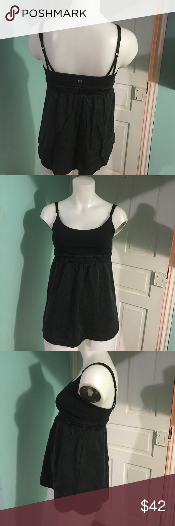 Lululemon Bliss Tank sz8 Lululemon Bliss Tank sz8. Great condition. Bottom half feels so soft like silk/suede. Baby doll style. Tops