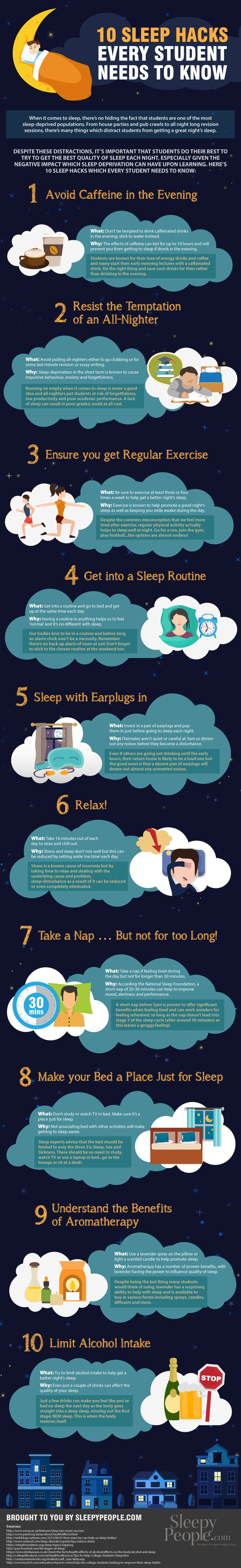 10 Sleep Hacks Every Student Needs To Know