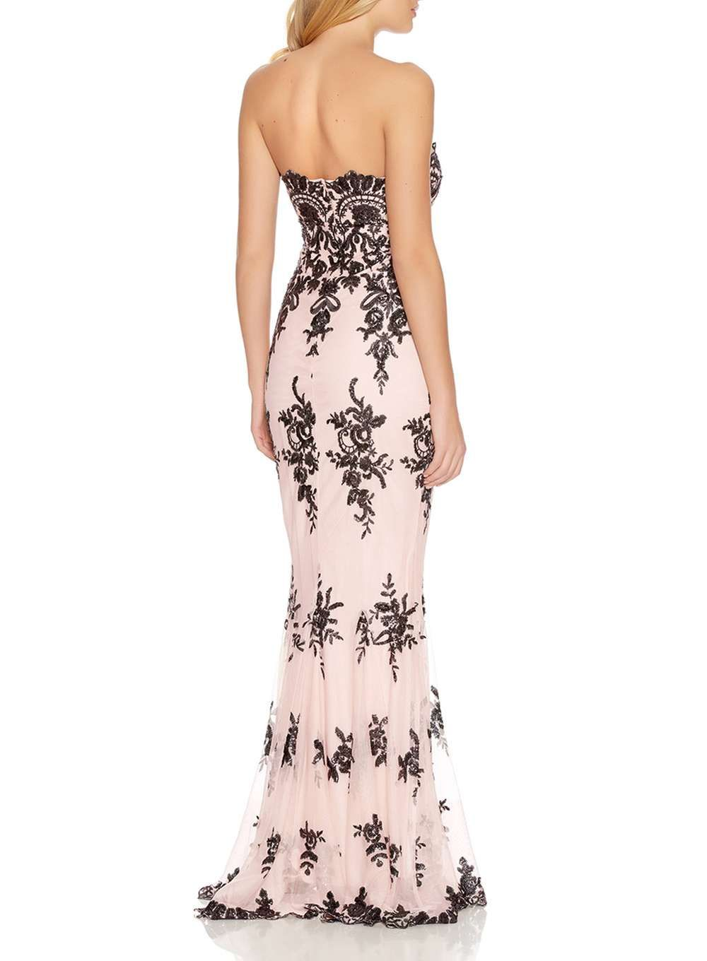 Womens quiz nude sequin fishtail maxi dress nude fishtail and