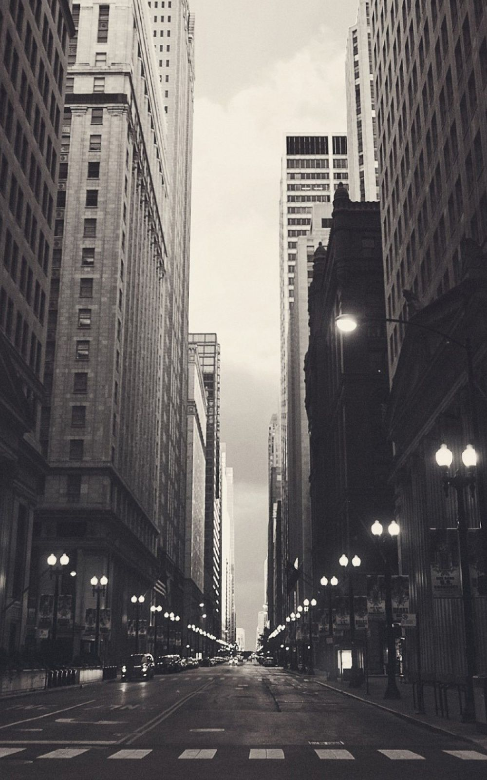 Chicago Usa Black And White Streetview Iphone 6 Plus Hd Wallpaper