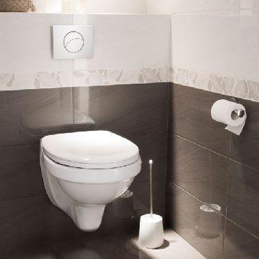 Le carrelage wc se met la couleur pour faire la d co - Idee deco wc carrelage ...