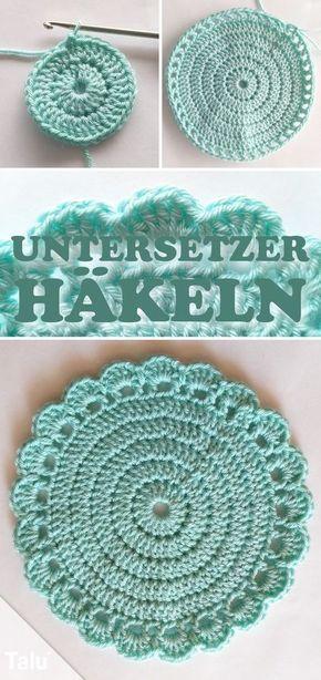 Instructions - crochet coasters -  -