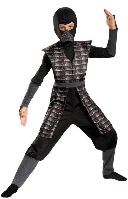 Boys Grey Evil Ninja Halloween Costume