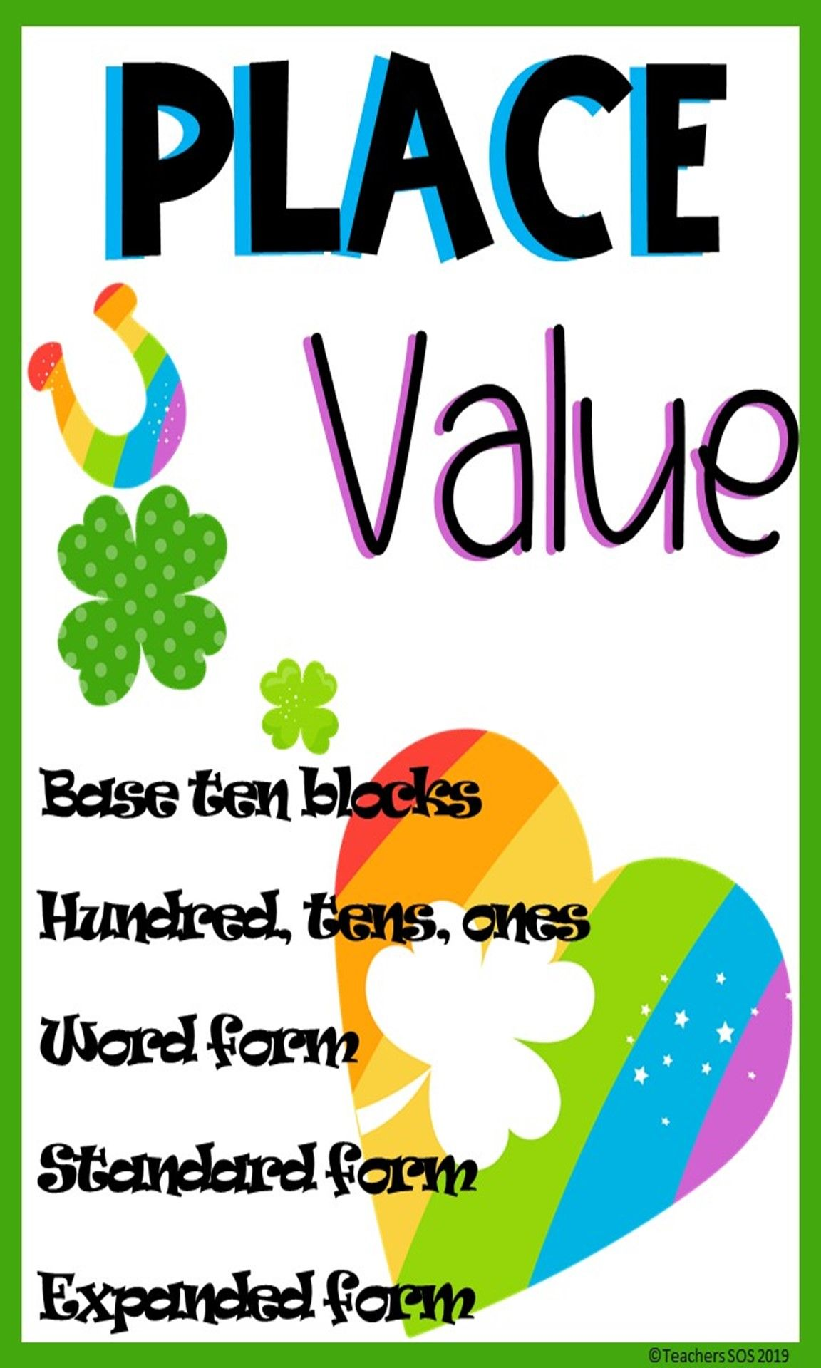 Distance Learning March Place Value Pack Hundreds Tens