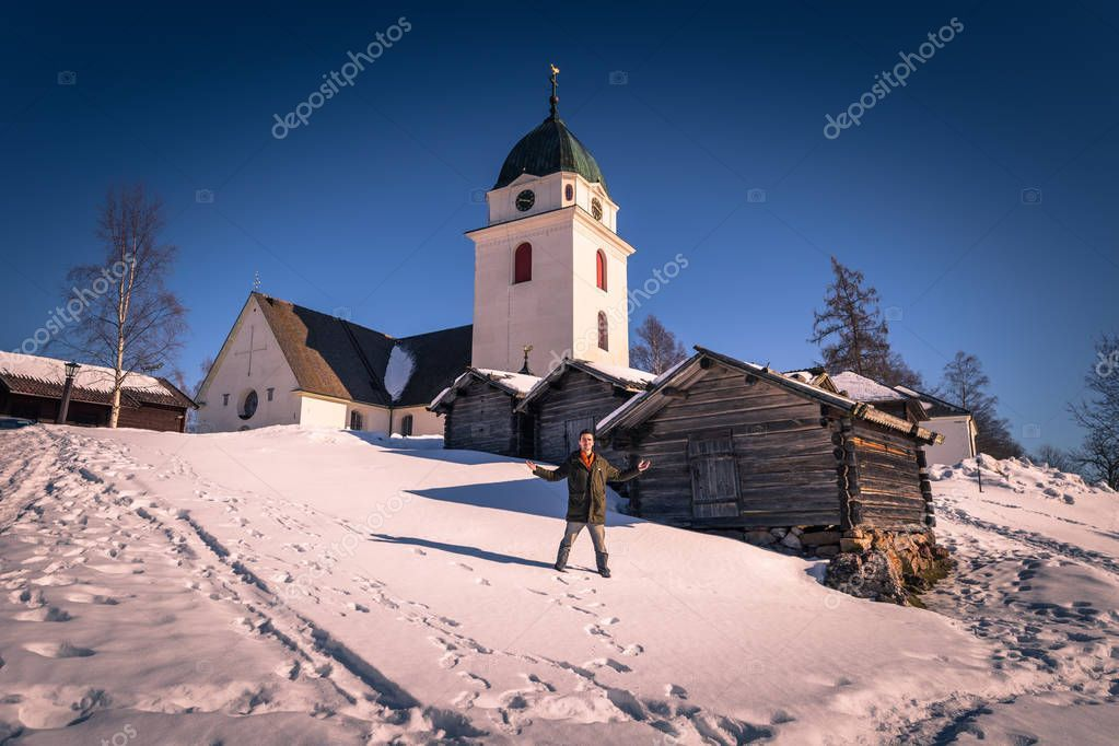 Rattvik March 2018 Traveler Old Church Rattvik Dalarna Sweden - Stock Pho , #affiliate, #Traveler, #Rattvik, #March, #Church #AD