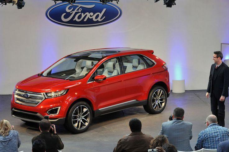 Her står nye Ford Edge Concept på Los Angeles