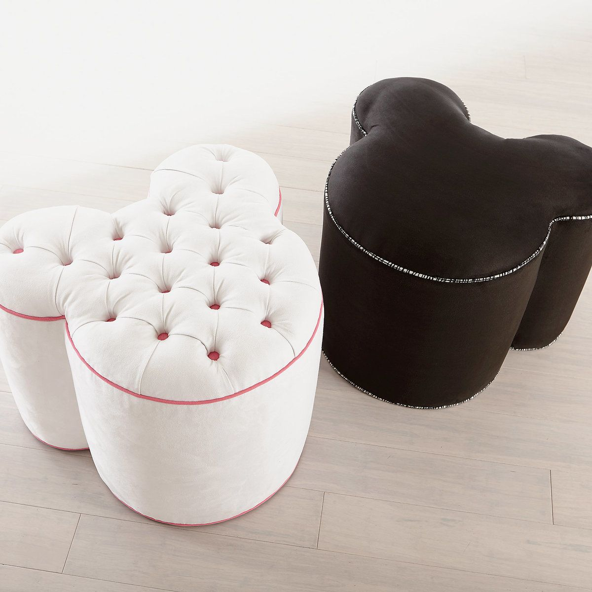 Product Image Of Mickey Mouse Pull Up Ottoman By Ethan Allen   Black # 4