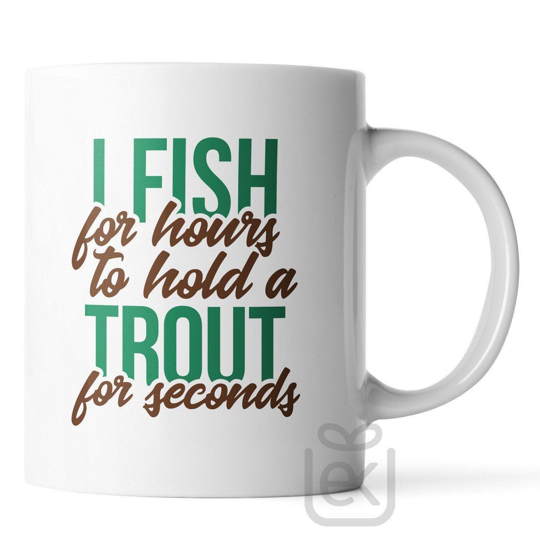 11oz Funny Sayings Fishing Coffee Mug I Fish